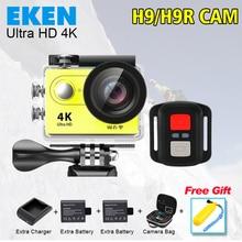 Экен H9R Действий камеры Ultra HD 4 К Видео Камера Спорта 170 градусов Широкий Угол 2.0 дюймов 1080 P pro cam wifi 2 Батареи + Зарядное Устройство + Сумка