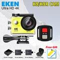 Eken H9R câmera de Ação Câmera De Vídeo de Esportes de Ultra HD 4 K 170 graus de Largura Ângulo de 2.0 polegada 1080 p pro cam wifi 2 Baterias + Carregador + Saco