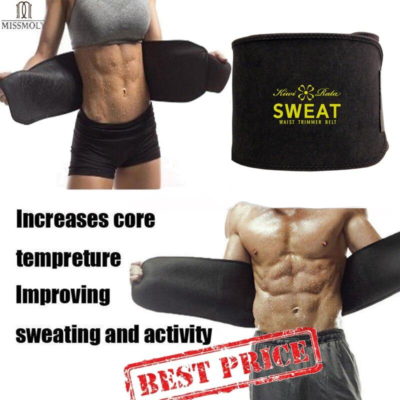 Premium Waist Trainer & Trimmer Sweat Belt For Men & Women Fitness Shapewear Wrap Tummy Stomach Weight Loss Fat Burner Slimming