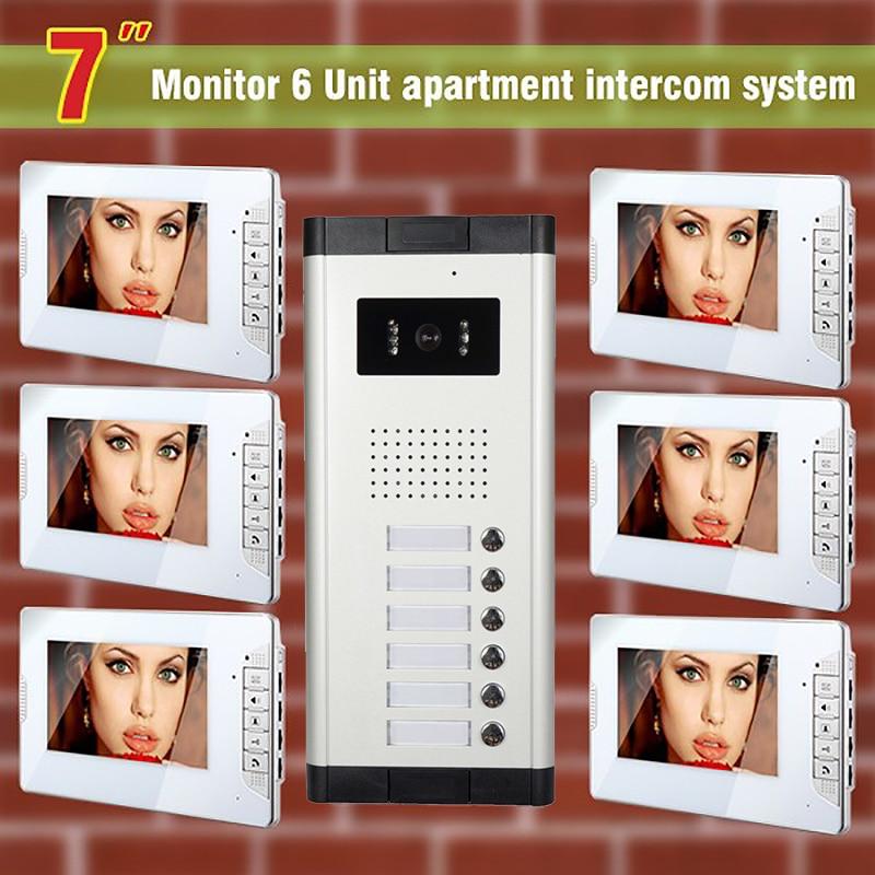 6 unit apartment intercom system video doorbell intercom system for apartments video door phone visual intercom system my apartment