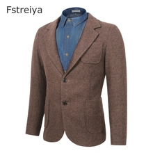 Custom made men terno slim fit tweed suit with pants customized mens clothing customes clothes tailored wool for wedding