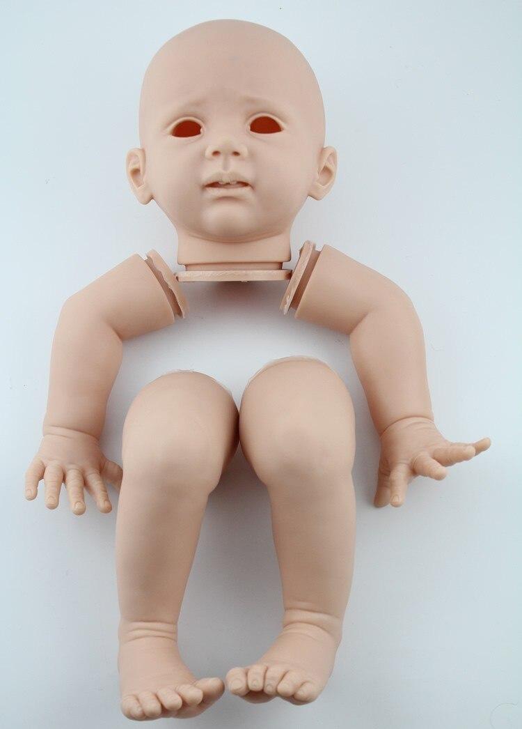 Kits de poupée en vinyle souple enfant en bas âge tête blanche 3/4 bras jambes bricolage Reborn bébé poupée accessoires pour 24 pouces poupées réalistes
