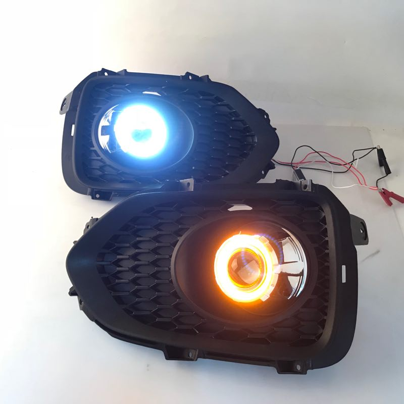 RQXR fog lamp driving light assembly for Kia Sorento cob angel eye led daytime running lights turn signal-in Car Light Assembly from Automobiles & Motorcycles    1