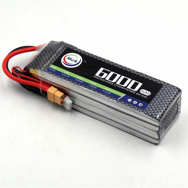 MOS 4S 14.8 v 6000 mah 25C RC Lipo batterie pour RC Avion Voiture Bateau AKKU Livraison gratuite