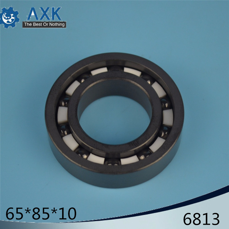 6813 Full Ceramic Bearing ( 1 PC ) 65*85*10 mm Si3N4 Material 6813CE All Silicon Nitride Ceramic 6813 Ball Bearings6813 Full Ceramic Bearing ( 1 PC ) 65*85*10 mm Si3N4 Material 6813CE All Silicon Nitride Ceramic 6813 Ball Bearings