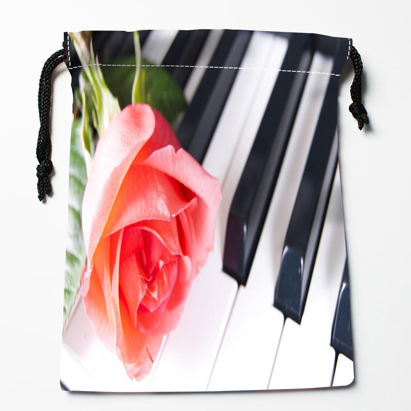 New Arrive Piano Flower Drawstring Bags Custom Storage Bags Printed Gift Bags More Size 27x35cm DIY Your Picture