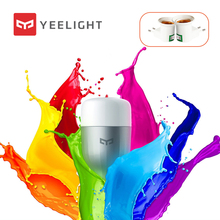 Yeelight bombilla LED E27 con Control remoto y WIFI, Bombilla de colores RGB, lámpara romántica con Control remoto por aplicación inteligente y WIFI