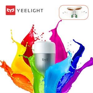 Image 1 - Yeelight bombilla LED E27 con Control remoto y WIFI, Bombilla de colores RGB, lámpara romántica con Control remoto por aplicación inteligente y WIFI
