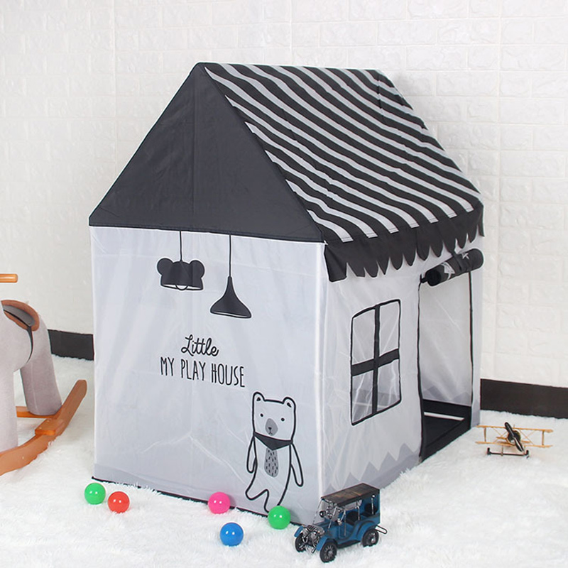Foldable Childrenu0027s Tents Indoor Baby Kids Toy Tent Playing Houses Outdoor Beach Playhouses Black White Color-in Toy Tents from Toys u0026 Hobbies on ... & Foldable Childrenu0027s Tents Indoor Baby Kids Toy Tent Playing Houses ...
