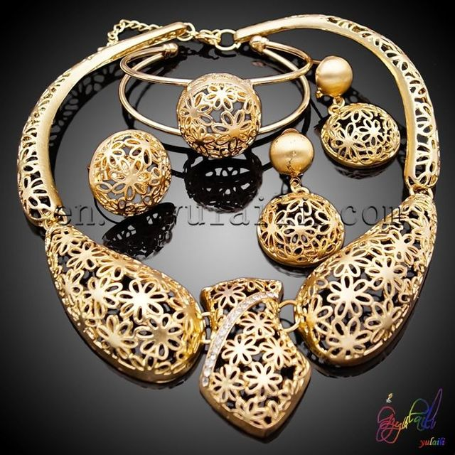 2e3a1846f 2 gram gold plated jewellery sets/ full set jewellery/ micro setting  wedding jewellery set