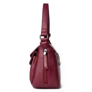 Image 2 - 2019 New Women Leather Messenger Bags Luxury Handbags Women Bags Designer Female Crossbody Vintage Shoulder Bag Ladies Bolsas
