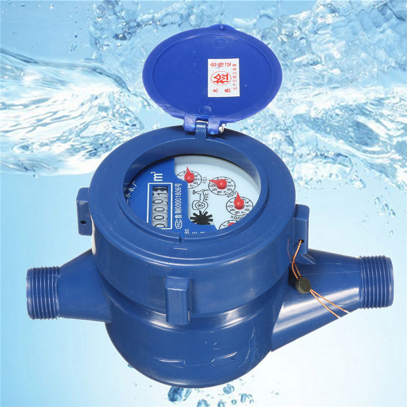 Small Size Capacitor 15mm Plastic Rotor Type Cold Water Table Garden Home Water Measuring Meter Water Cold Water Meter
