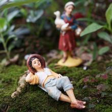 Промышленная фермерская жена с уткой и яйцом, ленивый фермер спящий, фигурки сказочные садовые аксессуары DIY