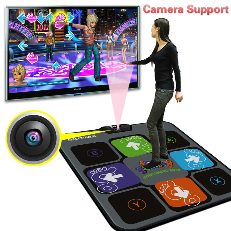 Cdragon Dance mat TV usb computer game camera dual thickening single weight dance pad with sd card dancing machine free shipping