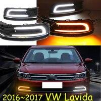 Lavida Daytime Light 2016 2017 Free Ship LED Lavida Fog Light 2ps Set Touareg PhaetonGolf7 Jetta
