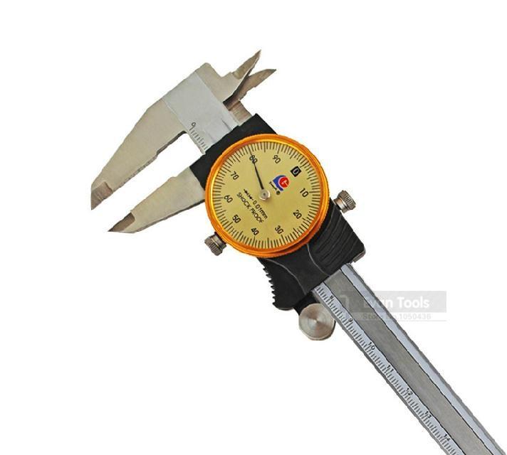 GUANGLU 0-200mm/0.02 Dial Caliper Stainless Steel Vernier Caliper Gauge Calipers Micrometer Paquimetro Ferramentas Measure Tools  цены