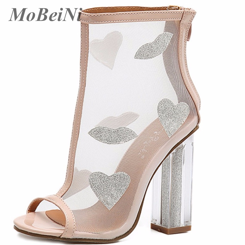Summer Style Vogue Sexy Mesh Gladiator High Heels Sandals Women Pumps Out Ankle Open Toe Stiletto Ladies Party Wedding Shoes brand new stiletto high heels sandals gladiator women sexy platform rome style shoes summer ladies open toe buckle pumps fashion