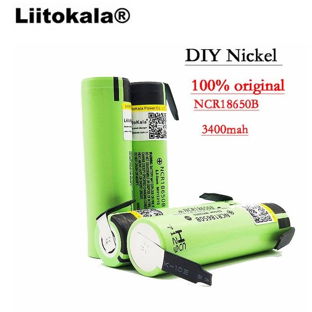 Liitokala 100% New Original NCR18650B 3.7v 3400 mah 18650 Rechargeable Lithium Battery DIY Nickel Sheet Batteries