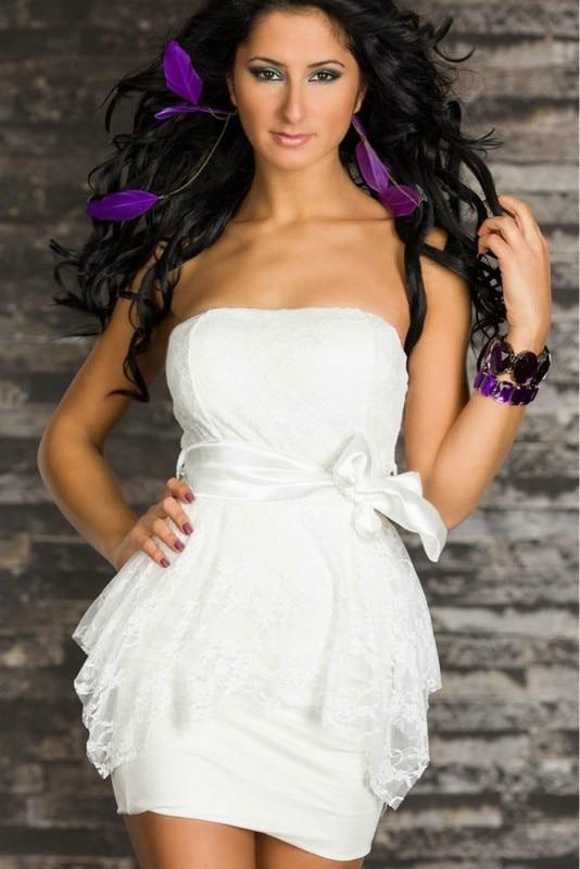 Popular White Peplum Dress-Buy Cheap White Peplum Dress lots from ...