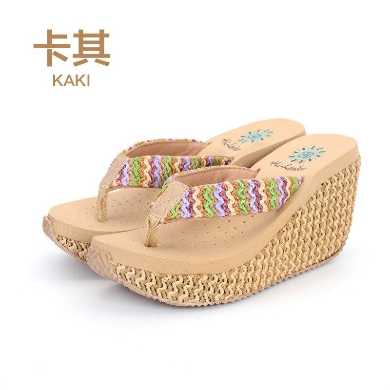 24d9906acea15a Female Slippers Woman Flip Flops 2018 Summer Hot Sale Fashion Wedge Heels  Pantshoes Female Footwear for Girls SNE 01-in Flip Flops from Shoes on ...