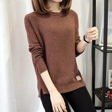 2017 Демисезонный Цвет плюс Размеры Для женщин платье комфорт трикотажный пуловер свитер Мода o-образным вырезом джемпер с длинными рукавами Топ