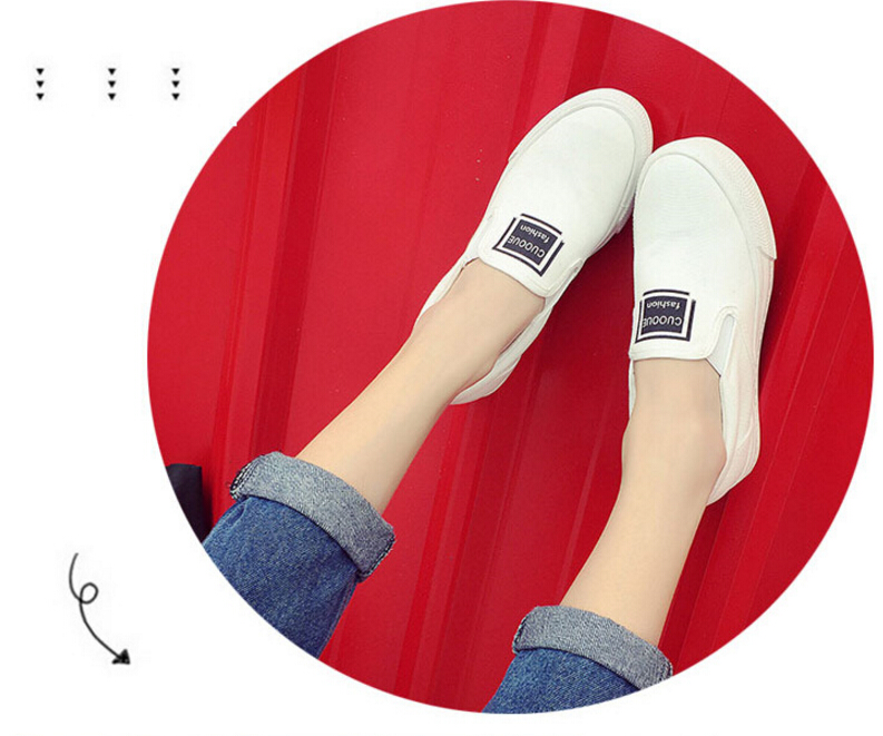 Free Shipping Spring and Autumn Men Canvas Shoes High Quality Fashion Casual Shoes Low Top Brand Single Shoes Thick Sole 7583 -  -  (3)