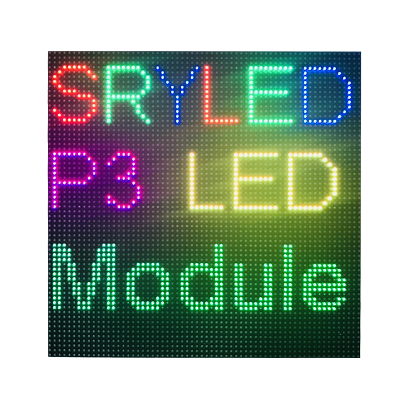 Indoor P3 Led Display Module Panel RGB Full Color 64 X 64 Dots Led Matrix For Digital Clock 1/32 Scan