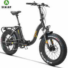 20inch Electric Bicycle Fat Snow Ebike 4.0 Tires Beach Electric Bicycle 48v 500w Fold Electric Snow Bike Off-road Wide Tire 1pcs electric bicycle tires 2 25 14 2 50 14 2 75 14 inch electric motorcycle bicycle tire bike tyre whole sale use