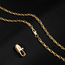 Punk Gold Color Link Chain Necklace for Man 4 mm width Simple Jewelry Dropshipping Wholesale