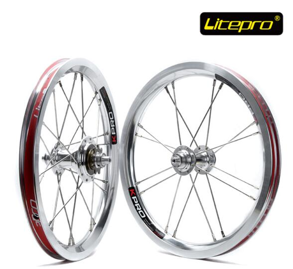 цена на Litepro Starlight 14 inch wheelset folding bike bicycle wheels for BYA412 BMX Parts