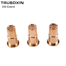 10PCS Inverter DC Plasma Cutter S45 Torch Trafimet Cutting Consumables  PD0103 Long Tip 10pcs inverter dc plasma cutter s45 torch trafimet cutting consumables pd0103 long tip