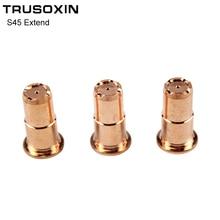 10PCS Inverter DC Plasma Cutter S45 Torch Trafimet Cutting Consumables  PD0103 Long Tip