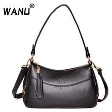 WANU брендовые роскошные женские сумки-мессенджеры дизайнерские женские сумки брендовые кожаные сумки на плечо Tote Высококачественная мягкая кожаная сумка