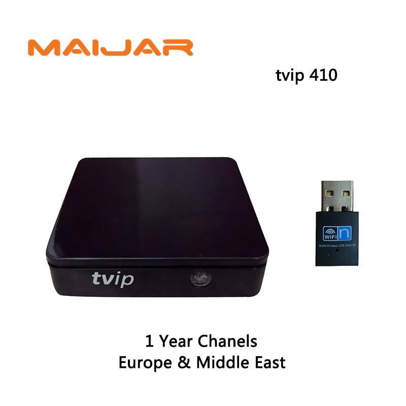 1 год IPTV Каналы подписка Европа Middel восток арабский Iptv Tvip410 V.410 H.265 портал Сталкер работает так же, как 250 254 256