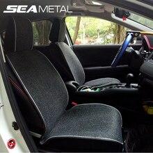 مقعد السيارة يغطي مجموعة غطاء الوسادة غطاء مقعد الكتان العالمي أربعة مواسم السيارات الداخلية السيارات التصميم اكسسوارات السيارات