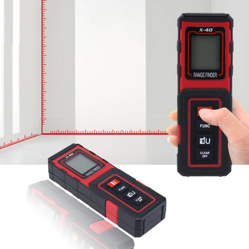 40M 3mm Mini Portable Rangefinder Handheld Laser Distance Meter Digital Laser Finder Build Measure Device Ruler 40m handheld digital laser distance meter