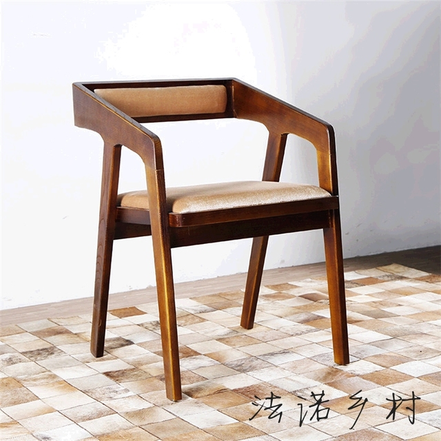 Simple Wood Chair Coffee Lounge Dining Chairs Modern Computer Office Hotel