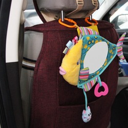Baby toy Stuffed Plush baby dear rattles Toddler Car Seat Fish Mirror Infant Stroller Hanging Newborn Educational Toy 0-12 Month