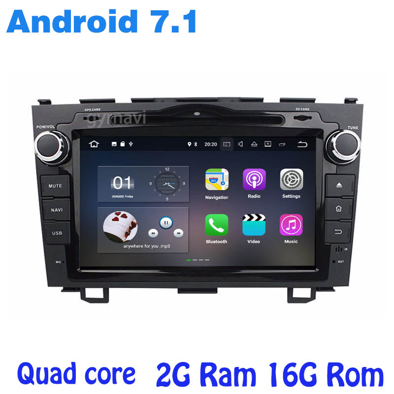 Android 7.1 Auto dvd gps-player für <font><b>CRV</b></font> 2006 2007 <font><b>2008</b></font> 2009 2010 2011 quad core 2g RAM wifi 4g usb bluetooth <font><b>radio</b></font> navi image