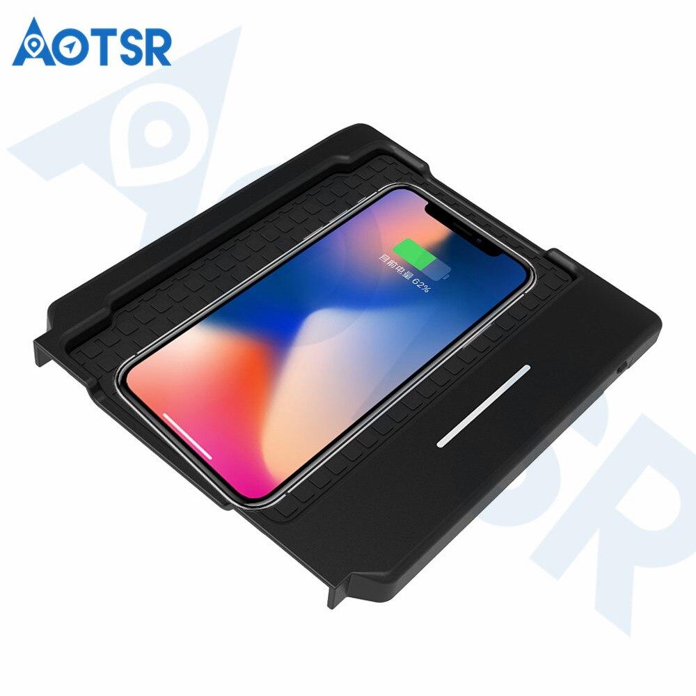 Chargeur de voiture sans fil Aotsr pour Lexus 2017 ES 2014-2017 voiture de charge sans fil infrarouge rapide intelligente pour téléphone/Sumsang/Nokia