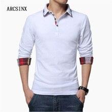 ARCSINX قميص بولو الرجال حجم كبير 5XL 4XL 3XL XXL ملابس علوية بأكمام طويلة للربيع بولو الرجال قميص بولو الخريف القطن الشتاء الرجال عادية Polos
