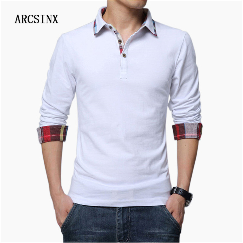 ARCSINX   Polo   Shirt Men Plus Size 5XL 4XL 3XL XXL Spring Long Sleeve   Polo   Men   Polo   Shirt Autumn Cotton Winter Casual Men's   Polos
