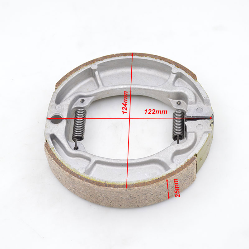 High Quality Motorcycle Rear Wheel Thicken Brake Shoes Sets For Honda WH125-B MCR125 WH MCR 125 125cc Brake Spare Parts