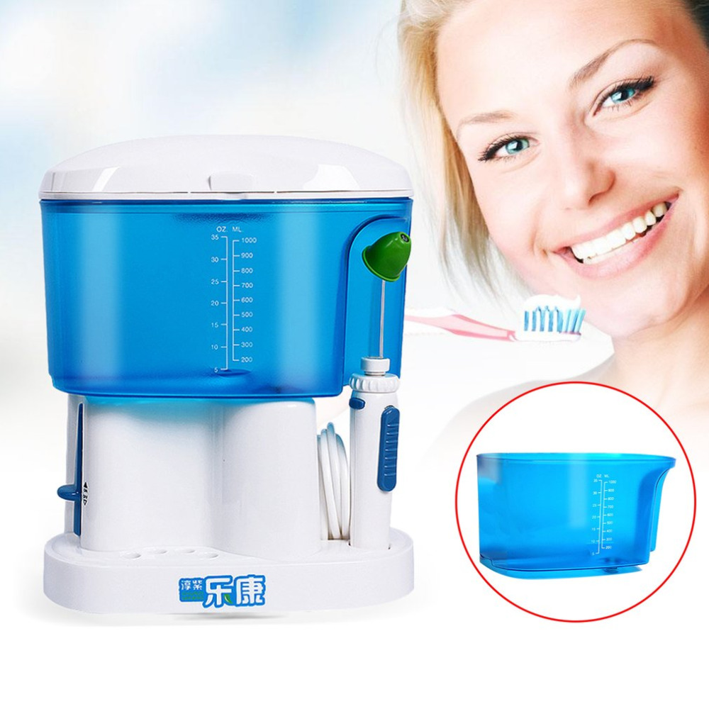 Electric Pulse Oral Irrigator Plaque Removal 220V Dental Water Flosser 1000ml Household Tooth Washing Device US Plug New Sale pro teeth whitening oral irrigator electric teeth cleaning machine irrigador dental water flosser teeth care tools m2