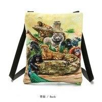 Ladies Handbag Printed Woman Bags Mini Cell Phone Pocket Shoulder Bags Owl Pattern Package Factory Direct