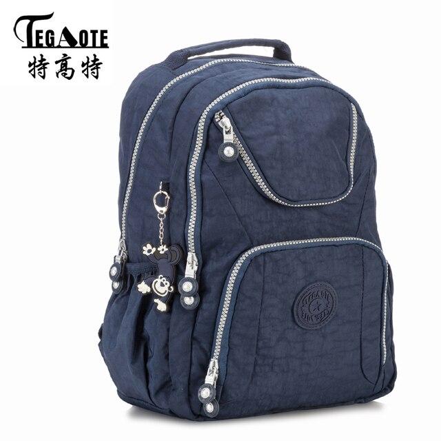 7c83887c3a67 TEGAOTE 2017 Black Backpack Unisex Hombre Mochila Masculina Bookbag Nylon  Waterproof Male Bagpack Female Portatil Bag Sac A Dos