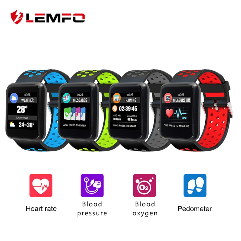 LEMFO Smartwatch Pedometer Heart Rate Blood Pressure Monitoring Smartwatch Sport3 IP67 Waterproof BT4.1 Smart Watch Man