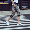 2016 hot selling new mens fashion camo pants seven summer youth mens jeans comfort thin camouflage two colors