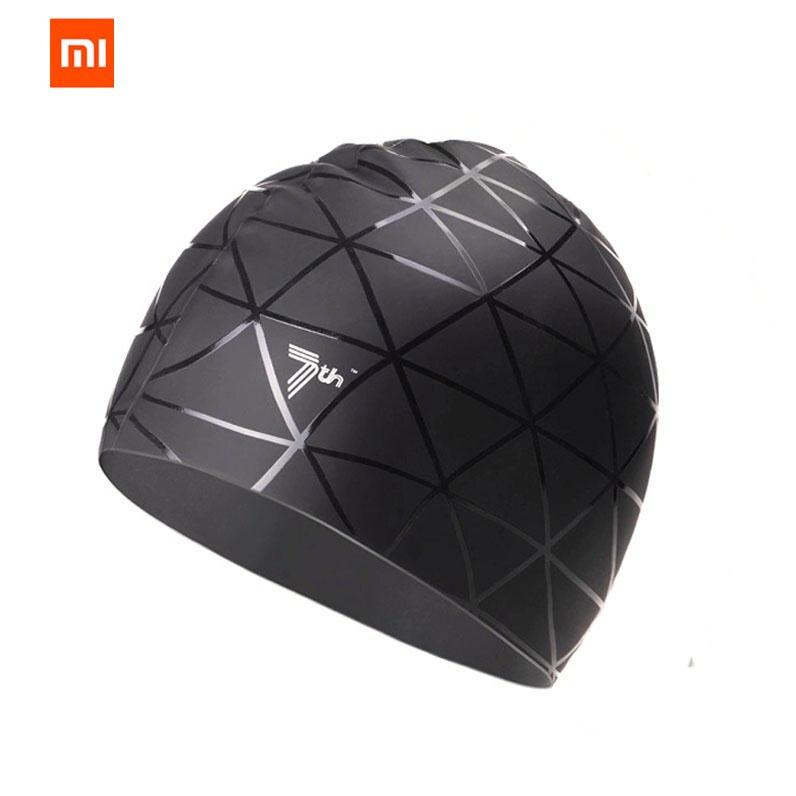 Original Xiaomi Mijia 7th suave silicona natación Mi cap impermeable deportes natación piscina sombrero orejas protección adultos hombres mujeres