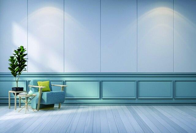 Laeacco Room Interior Sofa Wall Plants Wooden Floor Photography